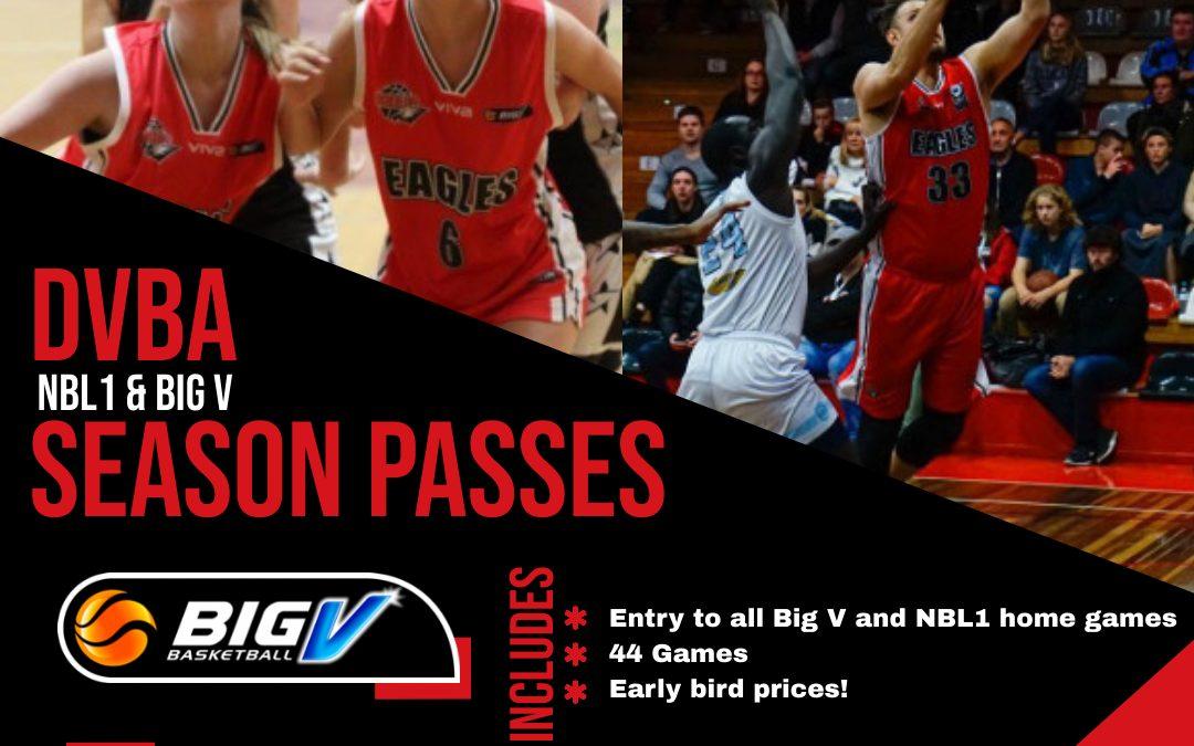 Season Passes 2021 Big V & NBL1 home games