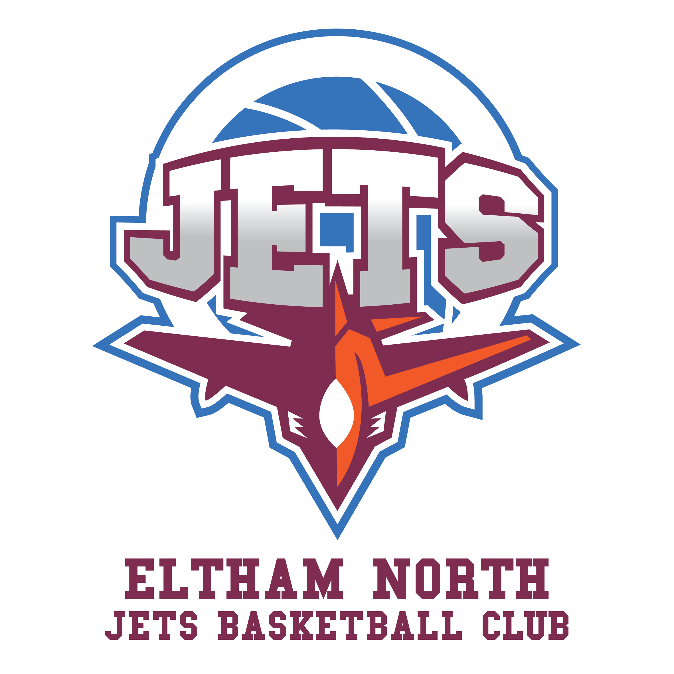 Eltham North Jets Basketball Club Logo_With Name