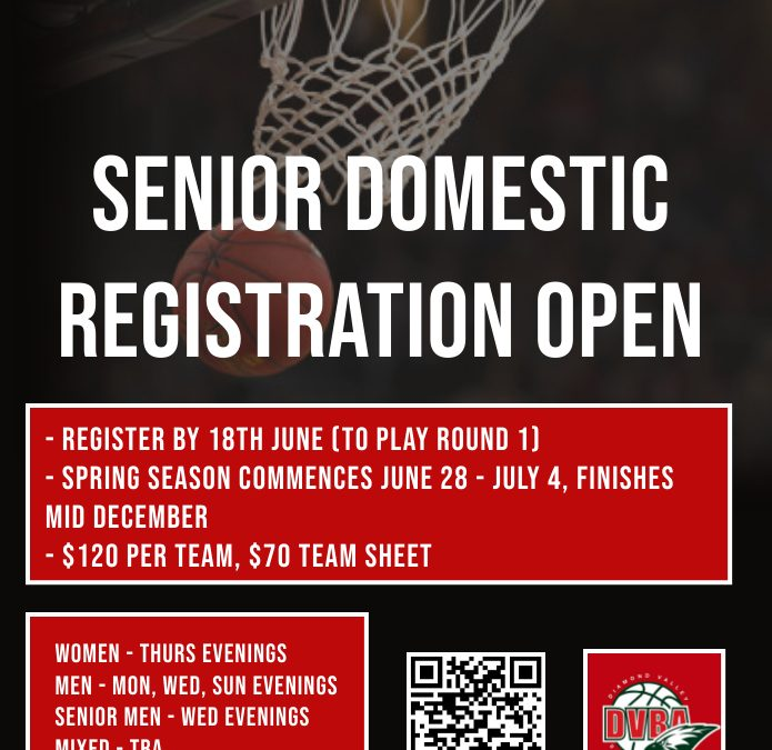 Senior Domestic Registration open for Spring Competition